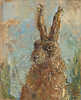 Portrait of a Hare, 2016 (Oil 20.5 x 25.5cm)