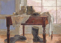Boots on Table