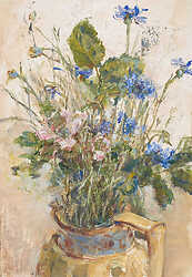 Cornflower in Yellow Jug
