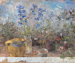 Delphinium in Water in Company