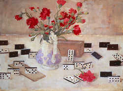 Dominoes and carnations