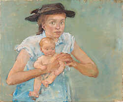 Emily with Alfred (Mother with Black Hat)