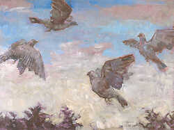 Four Flying Pigeons