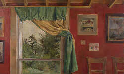 Green Curtain Interior