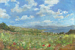 Paros Meadow and Sea