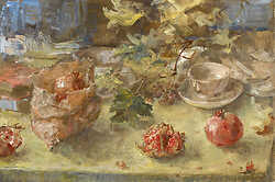 Pomegranates and Vine Leaves