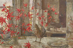 Red Maple and Bird