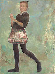 Self-portrait in black tights