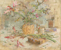 Still Life with Crinum and Book